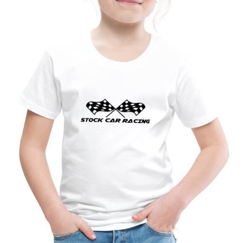 Stock Car Racing chequered flag, black - Kids' Premium T-Shirt