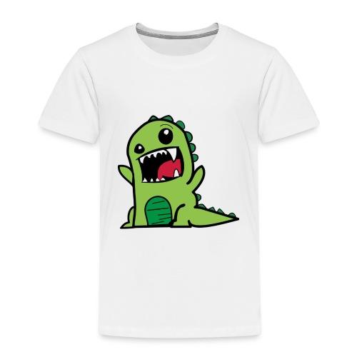 cartoon Dionsaurier Geschenk Idee Freunde - Kinder Premium T-Shirt
