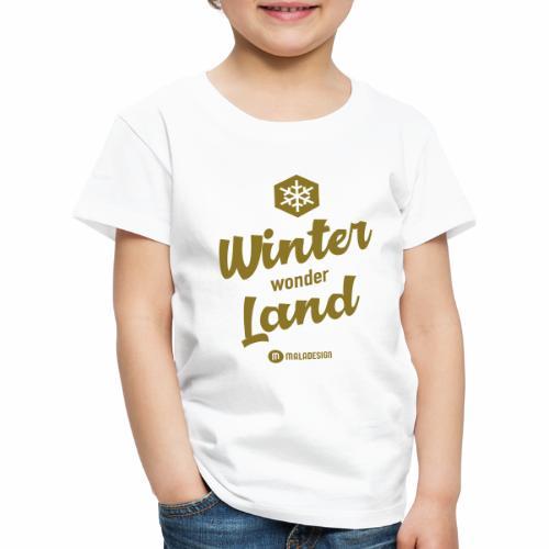 Winter Wonder Land - Lasten premium t-paita