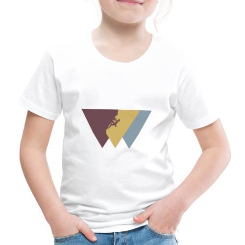 Klettrerin beim Klettern - Kinder Premium T-Shirt