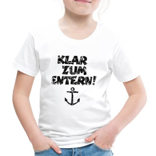 Klar zum Entern Segel Segeln (Vintage/Schwarz) - Kinder Premium T-Shirt