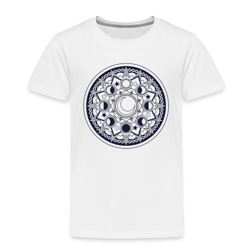 Mondmandala (dunkel) - Kinder Premium T-Shirt