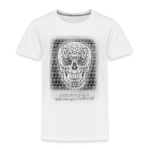 skull black trans 2 jpg - Kinderen Premium T-shirt