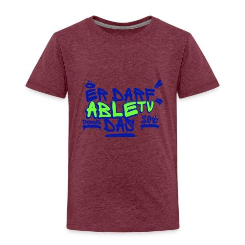 AbleTV Grafitti Logo Marken Shirt (Er Darf Das) - Kinder Premium T-Shirt