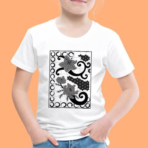 fleurs et graphisme - T-shirt Premium Enfant