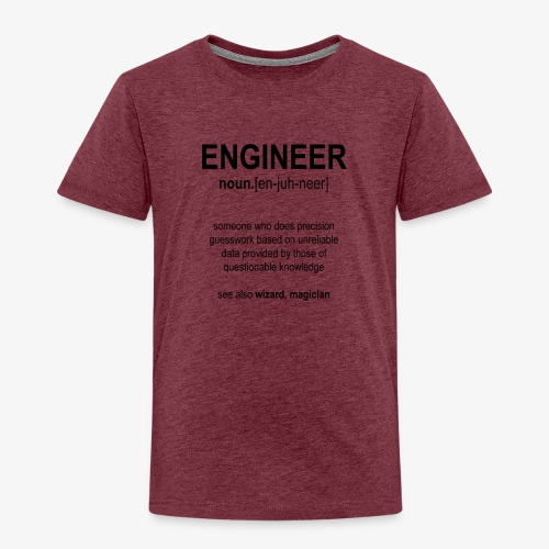 Engineer Def. 1 (Black) - T-shirt Premium Enfant