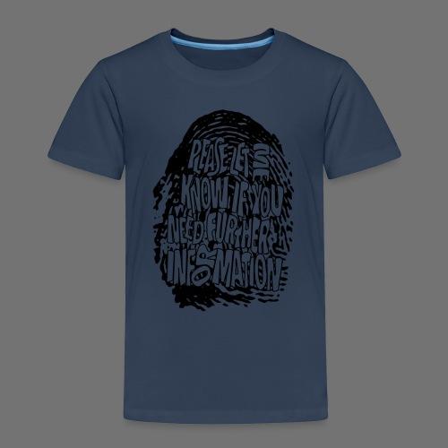 Fingerprint DNA (black) - Kids' Premium T-Shirt