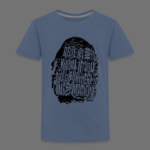 Fingerprint DNA (black) - Kinder Premium T-Shirt