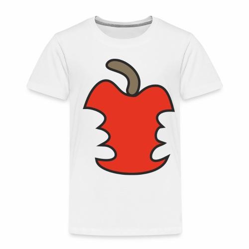 Apfel angebissen - Kinder Premium T-Shirt
