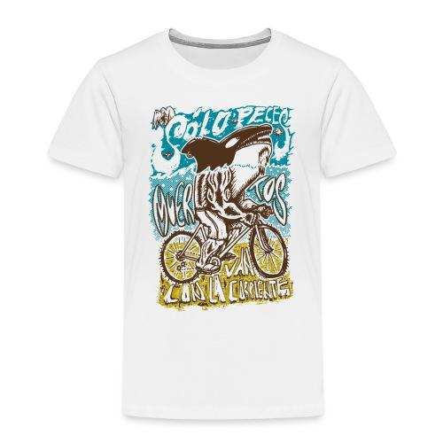 Solo peces muertos van con la corriente - Camiseta premium niño