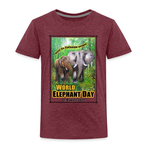Welt-Elefanten-Tag 12. August 2019 - Kinder Premium T-Shirt