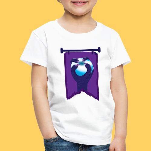 Purple banner with DRAGON fist and orb - Kids' Premium T-Shirt