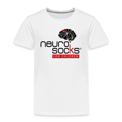 NeuroSocks for Children | Schwarz-Rot - Kinder Premium T-Shirt