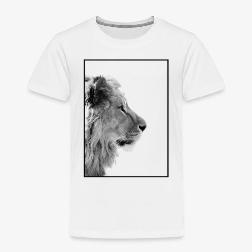 Beeindruckendes schwarz-weiß Löwe - Kinder Premium T-Shirt