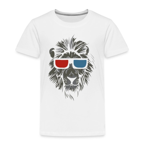Lion 3D - Kinder Premium T-Shirt