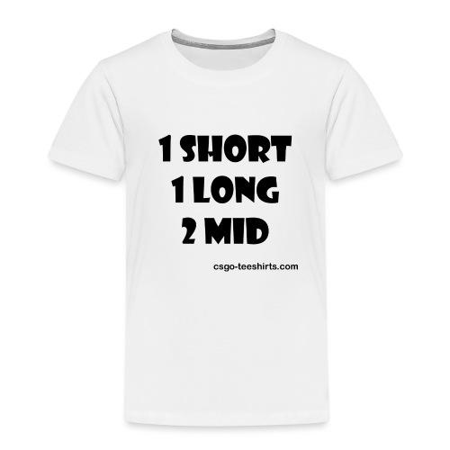 1 SHORT 1 LONG 2 MID - T-shirt Premium Enfant