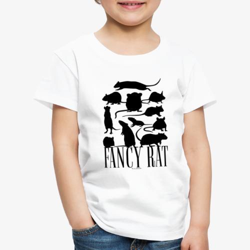 Fancy Rat Black - Lasten premium t-paita