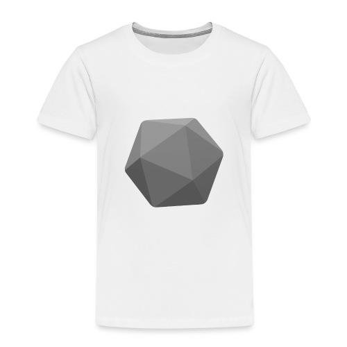 Grey d20 - D&D Dungeons and dragons dnd - Kinder Premium T-Shirt