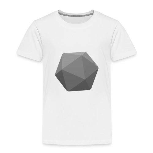 Grey d20 - D&D Dungeons and dragons dnd - Kinderen Premium T-shirt