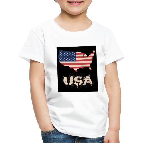 USA FLAG 4th of July With Flag - Premium-T-shirt barn