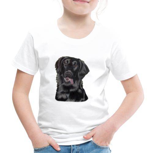flatcoated retriever pastels - Børne premium T-shirt
