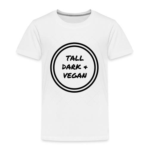 TallDark &Vegan (1) black - Kids' Premium T-Shirt