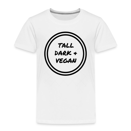 Tall Dark & Vegan Black Logo - Kids' Premium T-Shirt