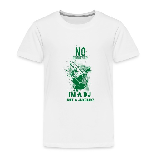 DJ no JukeBox GREEN - Kids' Premium T-Shirt