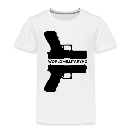 WorldMilitaryHD Glock design (black) - Kinderen Premium T-shirt
