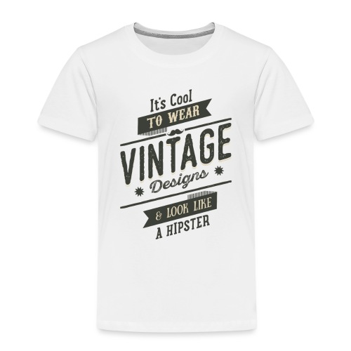 Vintage Design dark - Kids' Premium T-Shirt