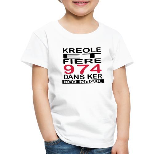 Kreole et Fiere - 974 ker kreol - T-shirt Premium Enfant
