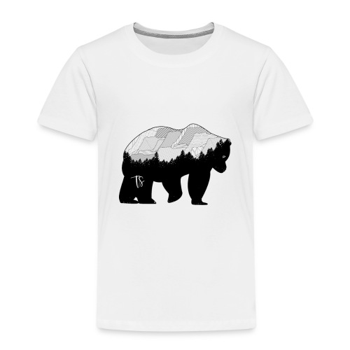 Geometric Mountain Bear - Maglietta Premium per bambini