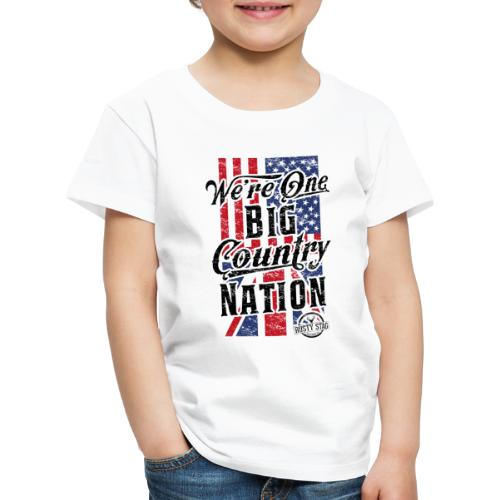 Country Nation Ladies Scoop Tee - Kids' Premium T-Shirt