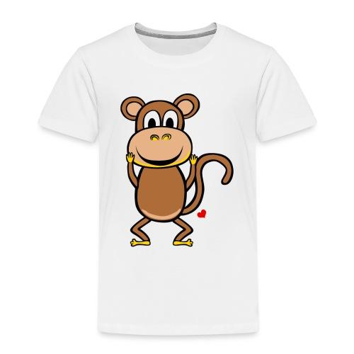 Kocham Małpę - Biały napis - Koszulka dziecięca Premium