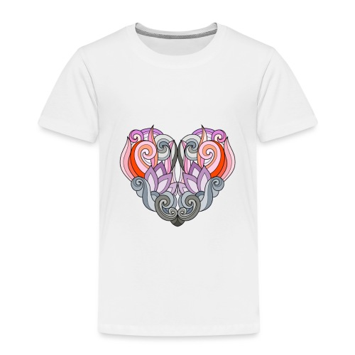 CUORE MANDALA - Maglietta Premium per bambini