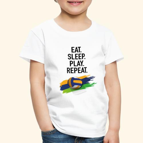 Eat.Sleep.Play.Repeat. - Kinder Premium T-Shirt