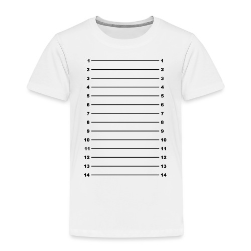 Length Check T-Shirt Plain - Kids' Premium T-Shirt