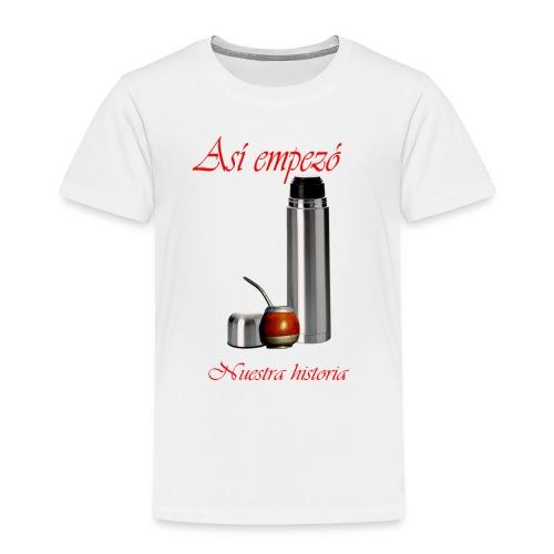 así empezó lo nuestro - Camiseta premium niño