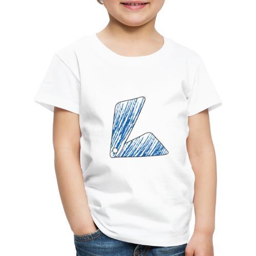 lettera L blu - Maglietta Premium per bambini