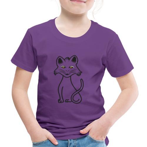 gatto nero - Maglietta Premium per bambini