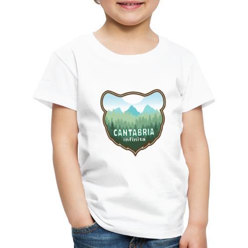 Oso en cantabria infinita - Camiseta premium niño