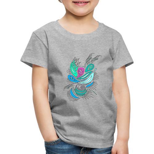 astratto foglie multicolore - Maglietta Premium per bambini