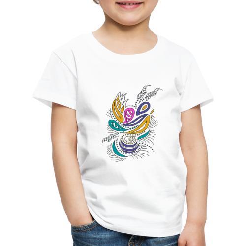 foglie geometriche multicolore - Maglietta Premium per bambini