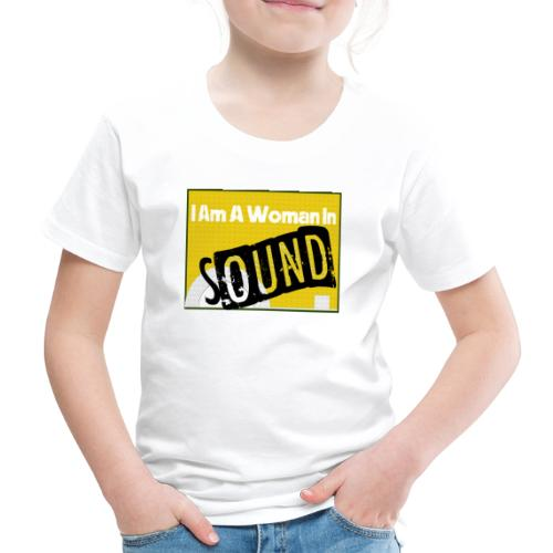 I am a woman in sound - yellow - Kids' Premium T-Shirt