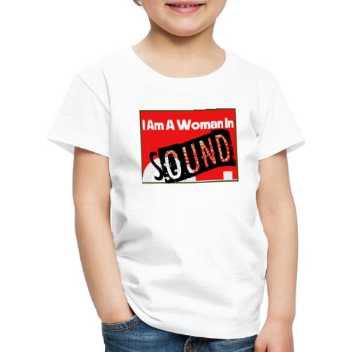 I am a woman in sound - red - Kids' Premium T-Shirt