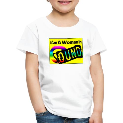 I am a woman in sound - rainbow - Kids' Premium T-Shirt