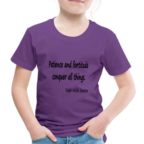 Peace and Patience - Kids' Premium T-Shirt