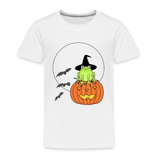 frog on pumpkin - Kids' Premium T-Shirt