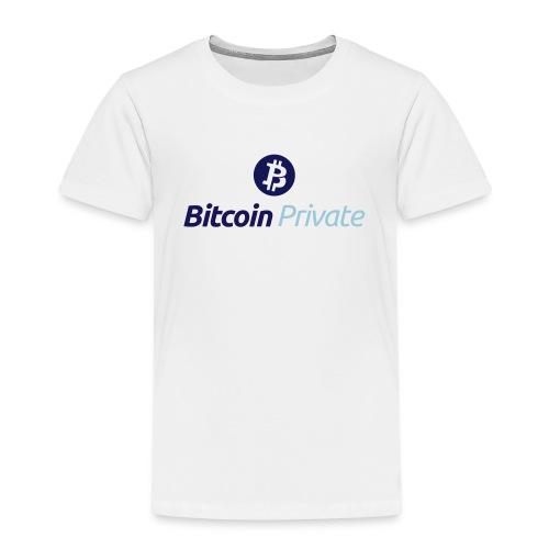 Bitcoin Private Logo ICON TOP - Dark / Light Blue - Kids' Premium T-Shirt