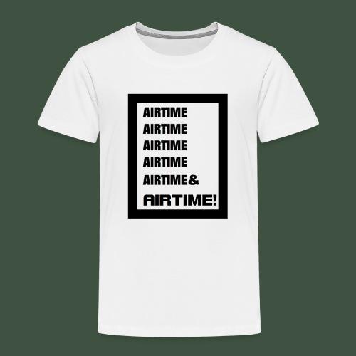 Airtime Logo schwarz auf weiss - Kinder Premium T-Shirt